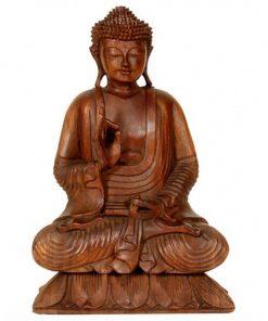 houten zittende Boeddha 40cm