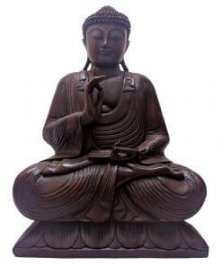 Handgemaakte Boeddha van hout uit Bali 60 cm