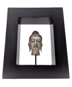 Boeddhahoofd in mooie lijst – wanddecoratie 20cm