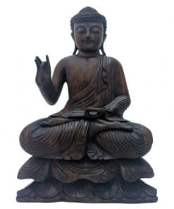 Houten handgemaakt Boeddhabeeld uit Bali 50 cm