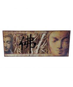 Boeddha hoofd schilderij 50 cm als wanddecoratie
