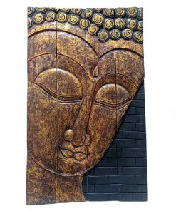 Boeddha op houten luik - Raam of kamerscherm 97 cm
