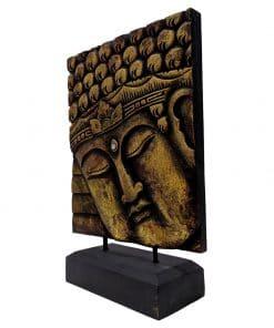 Boeddha raamscherm en houten decoratie paneel 37 cm